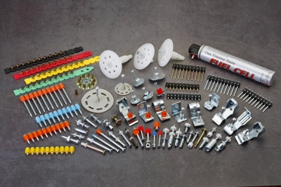 Drive Pins, Powder Loads, Gas Nails, Fuel Cell, Fasteners, Clips